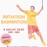 Affiche Initiation badminton