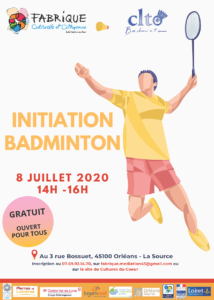 Affiche Initiation badminton