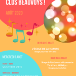 Affiche animations été Clos Beauvoys