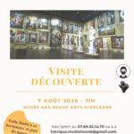 Affiche Visite découverte Musée Beaux-Arts Orléans